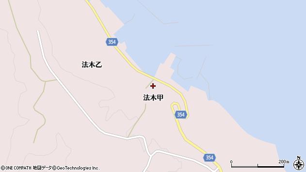 山形県酒田市飛島法木甲91周辺の地図
