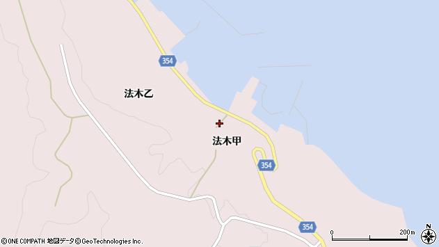 山形県酒田市飛島法木乙190周辺の地図