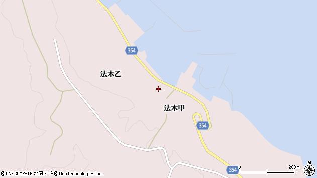 山形県酒田市飛島法木乙197周辺の地図