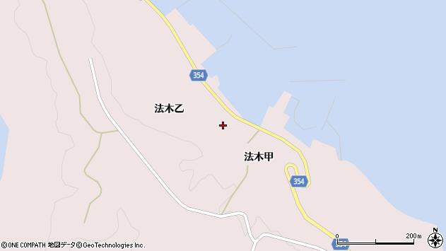 山形県酒田市飛島法木乙201周辺の地図