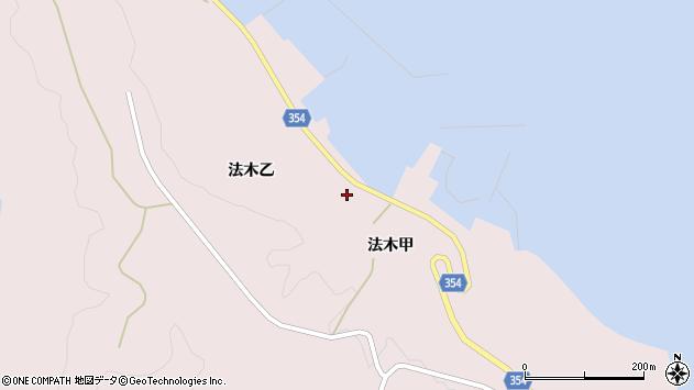 山形県酒田市飛島法木乙196周辺の地図