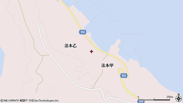 山形県酒田市飛島法木乙202周辺の地図