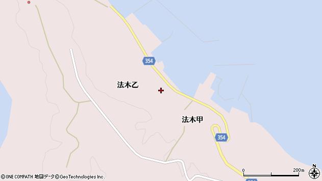 山形県酒田市飛島法木乙206周辺の地図