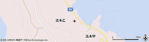 山形県酒田市飛島法木乙213周辺の地図