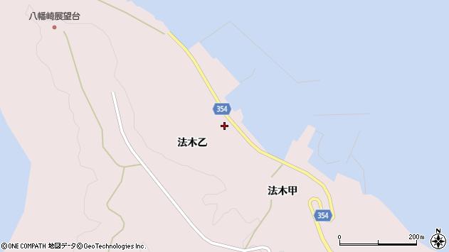 山形県酒田市飛島法木乙226周辺の地図