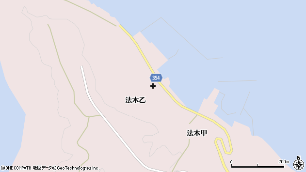 山形県酒田市飛島法木乙229周辺の地図