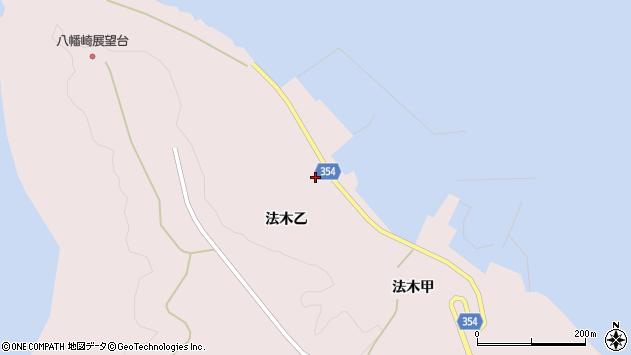 山形県酒田市飛島法木乙234周辺の地図