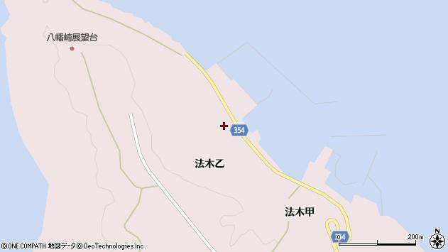 山形県酒田市飛島法木乙242周辺の地図