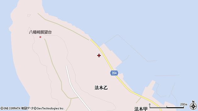 山形県酒田市飛島法木乙261周辺の地図
