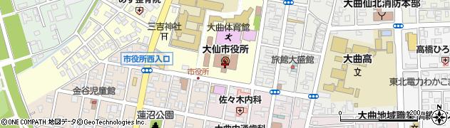 秋田県大仙市周辺の地図