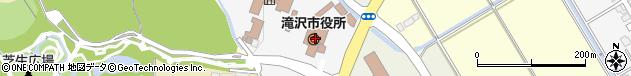 岩手県滝沢市周辺の地図