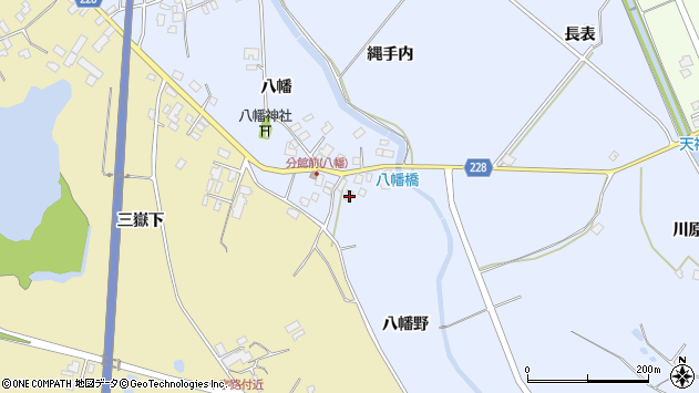 秋田県南秋田郡井川町八田大倉八幡野 住所一覧から地図を検索