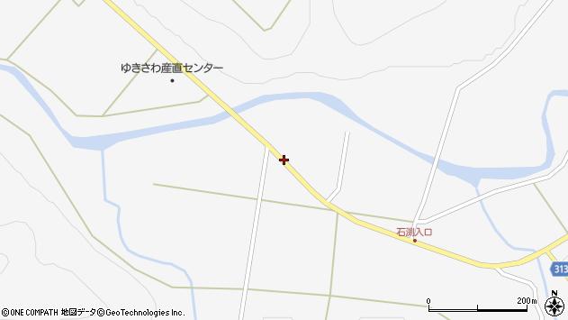 秋田県大館市雪沢中蕷ケ岱周辺の地図