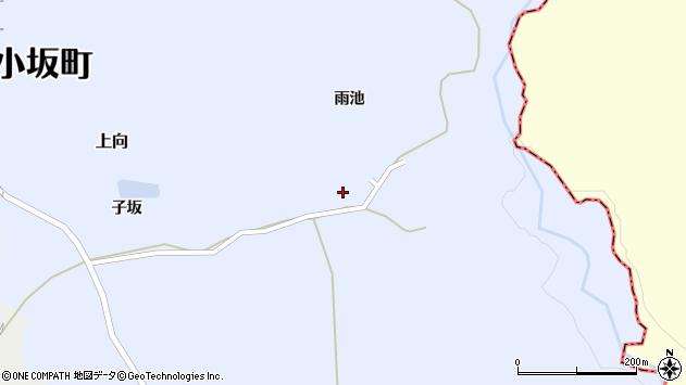 秋田県鹿角郡小坂町上向雨池 住所一覧から地図を検索