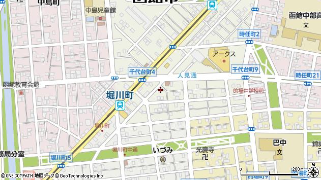 北海道函館市千代台町5-5周辺の地図