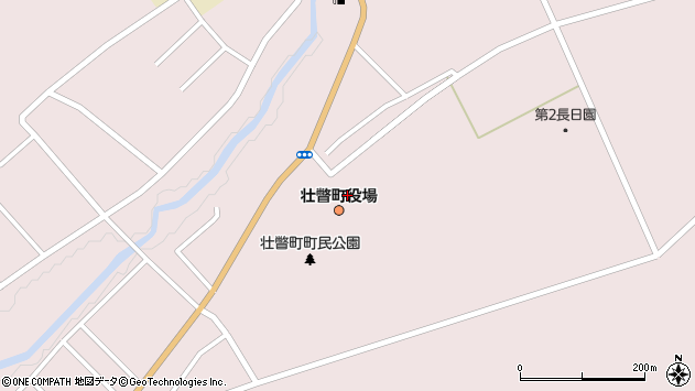 北海道有珠郡壮瞥町周辺の地図
