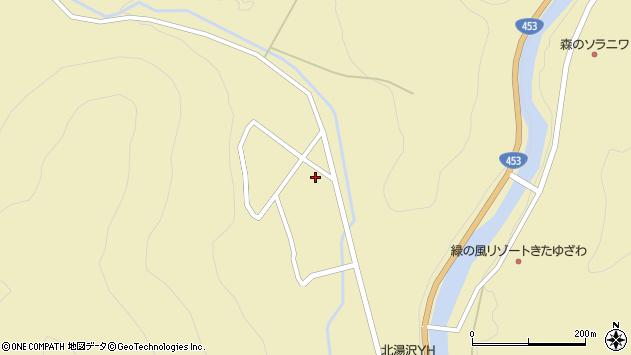北海道伊達市大滝区北湯沢温泉町周辺の地図