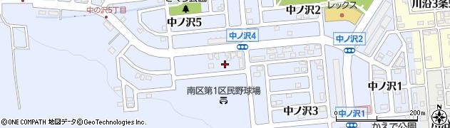 北海道札幌市南区中ノ沢4丁目1-8周辺の地図