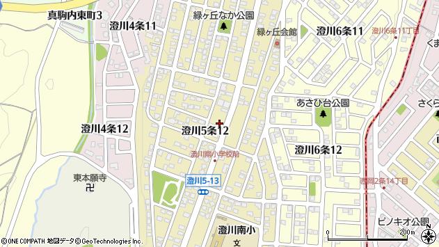 北海道札幌市南区澄川5条周辺の地図