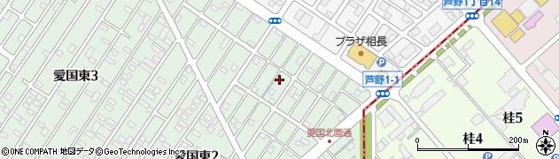 北海道釧路市愛国東2丁目周辺の地図