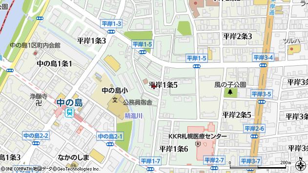 北海道札幌市豊平区平岸1条5丁目周辺の地図