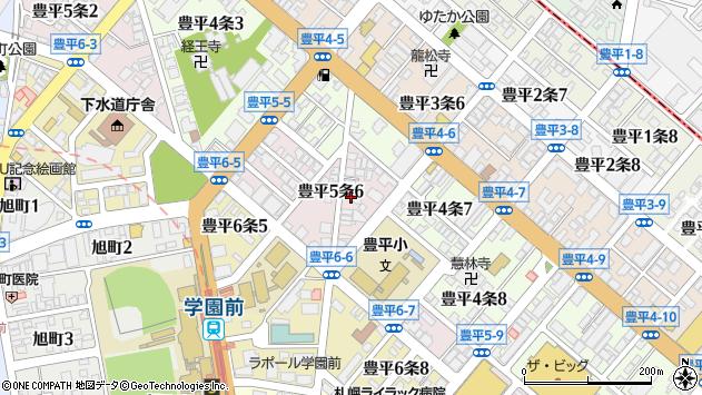 北海道札幌市豊平区豊平5条周辺の地図