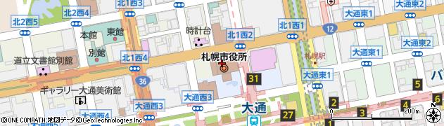 札幌市周辺の地図