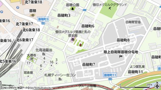 北海道札幌市東区苗穂町6丁目1周辺の地図
