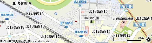 北海道札幌市中央区北13条西16丁目1周辺の地図
