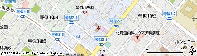 北海道札幌市西区琴似2条3丁目周辺の地図