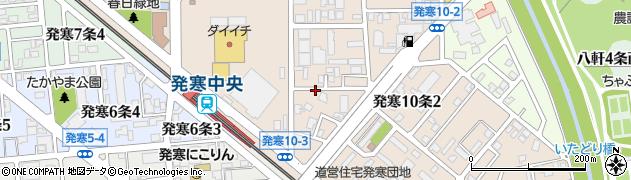 北海道札幌市西区発寒10条2丁目周辺の地図