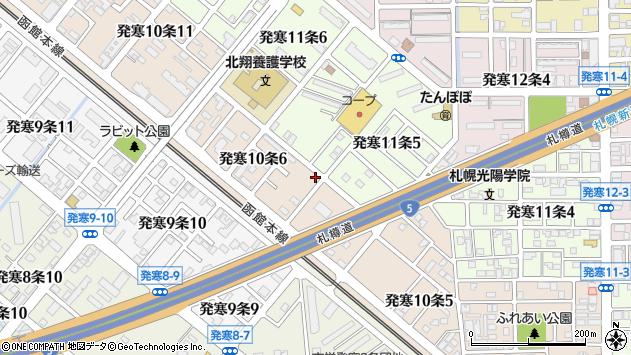 北海道札幌市西区発寒10条6丁目2-34周辺の地図