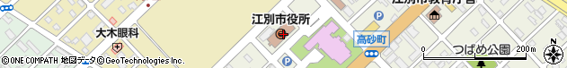 北海道江別市周辺の地図