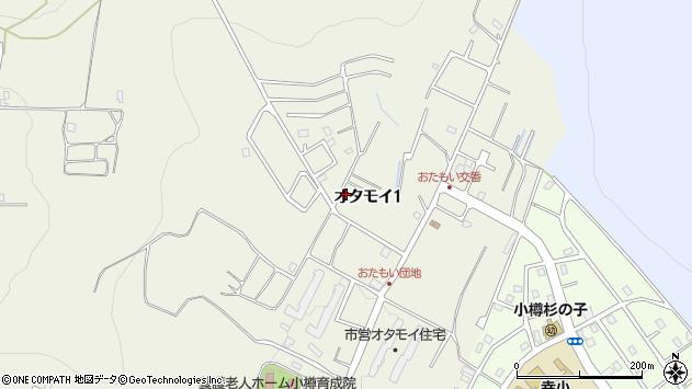 北海道小樽市オタモイ1丁目周辺の地図