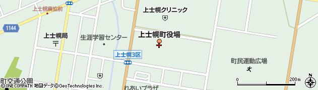 北海道河東郡上士幌町周辺の地図