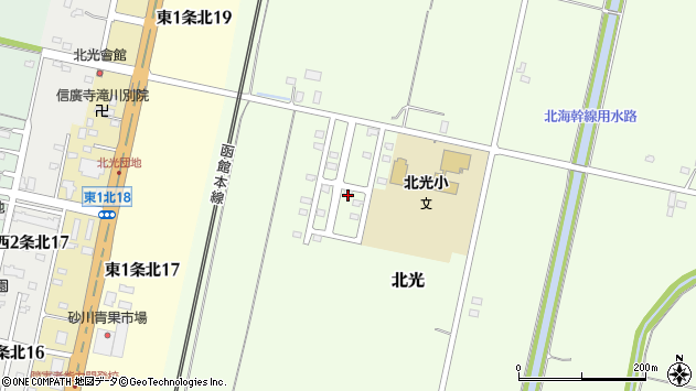 北海道砂川市北光 地図(住所一覧から検索) :マピオン