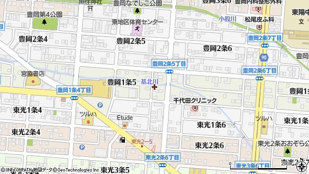 北海道旭川市豊岡1条5丁目周辺の地図
