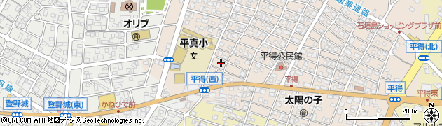 沖縄県石垣市平得周辺の地図