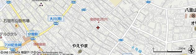 沖縄県石垣市登野城周辺の地図