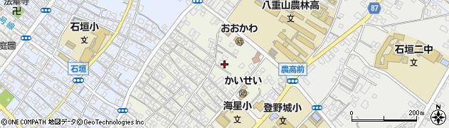 沖縄県石垣市大川周辺の地図