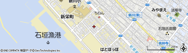 沖縄県石垣市新栄町周辺の地図