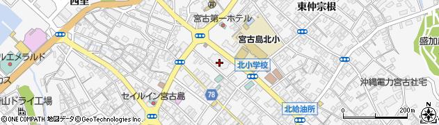 沖縄県宮古島市周辺の地図