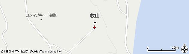 牧山展望台周辺の地図