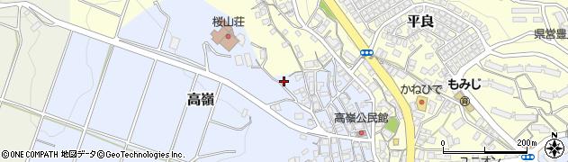 沖縄県豊見城市高嶺周辺の地図