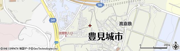 沖縄県豊見城市渡嘉敷周辺の地図