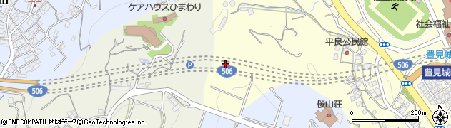 豊見城トンネル周辺の地図