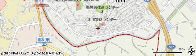 沖縄県島尻郡南風原町山川周辺の地図