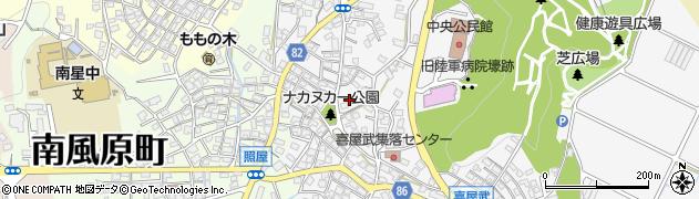 沖縄県島尻郡南風原町喜屋武周辺の地図