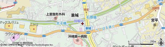 沖縄県島尻郡南風原町兼城周辺の地図