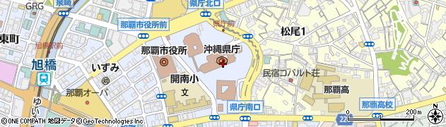 沖縄県周辺の地図
